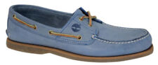Boat Shoes Patternless 100% Leather Flats for Women
