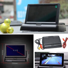 Car Backup Reverse image Display Foldable 4.3 Inch Color LCD TFT Monitor Screen