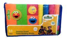 Sesame Street Foam Building Blocks Verdes 50 Pieces Toy Gift Elmo Big Bird Abby