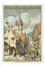 ALSACE LORRAINE vintage travel poster QUAINT VILLAGE charm collectible 24X36