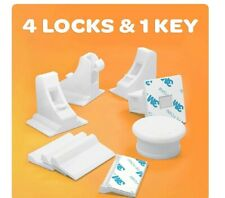 Jambini Magnetic Cabinet Locks - Baby Cabinet Safety Latches - Baby Proofing Cab