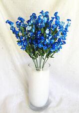 12 Baby's Breath ~ BRIGHT ROYAL BLUE ~ Gypsophila Silk Wedding Flowers Bouquet