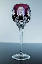 Antique Large 1 Glass Wine Crystal Lilac Theresienthal Bohemian