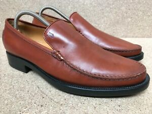 TODS Men's US 9.5 Brown Leather Loafer Travel Driving Moc Boat Slip-On Shoes