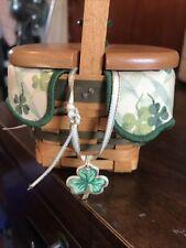 Vintage Longehberger St Patrick's Irish Clover Collectible Basket