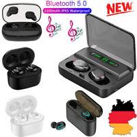 Mini In-Ear Kopfhörer Bluetooth 5.0 Kabellos Stereo Headset TWS Ohrhörer Ladebox