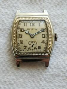 Selling Used Vintage Hamilton Raleigh WristWatch in 14K White Gold Filled Case..