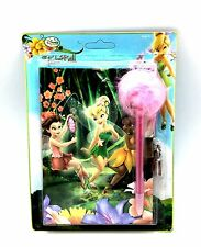 Disney Fairies Diary Marabou Pen Tinkerbell Rosetta Iridessa Lock & Key Book Kid