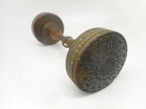 Antique RUSSELL & ERWIN Eastlake Victorian Sunburst Door Knob Brass Bronze
