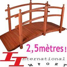 GRAND PONT de jardin en Bois NEUF479 €! ETANG Fontaine meuble decoration deco !