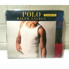Polo Ralph Lauren Men's Classic Fit Tank Top Cotton Ribbed Undershirt 3 Pack L