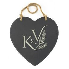 Personalised Slate Hanging Love Heart Custom Board Chalk Board Memo Board Notes