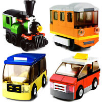 4 Set Sluban DIY Kids Building Blocks Toys Puzzle Transport Bus Train Car B0598