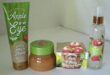 4 Pc Bath & Body Works Champagne Apple & Honey Set Mist Cream Scrub Butter Lot