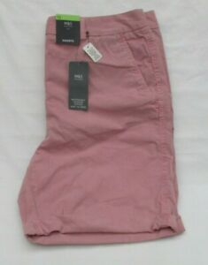 LADIES MARKS AND SPENCER SUNSET PINK 4 POCKET COTTON SHORTS SIZE 12