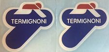 Termignoni Vinyl Decals. One Pair. Red, White, Blue.
