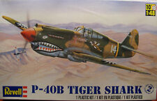 WWII P40B TIGER SHARK REVELL 1:48 SCALE PLASTIC MODEL AIRPLANE KIT