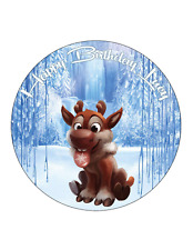 SVEN FROZEN Group Cake Topper Image  Personalised Birthday Decoration Party