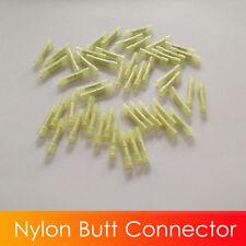 (100) Yellow NYLON Wire Butt Connector Crimping Terminals 26-22 GA AWG unique