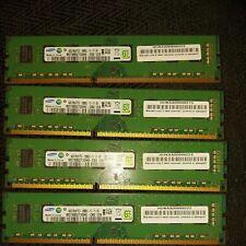 SAMSUNG16GB (4x4gb) DDR3  2Rx8 PC3-12800U, 1600Mhz RAM M378B1G73QHO-CKO