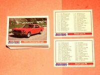1992 MUSTANG CARDS SERIES 1 PERFORMANCE YEARS COMPLETE BASE 109 CARD SET! SHELBY