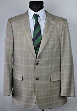 BURBERRY LONDON Tartan 93% CASHMERE 7% SILK Blazer UK 42 Coat Jacket Suit Eur 52