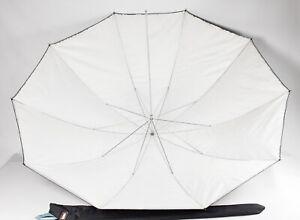"""Calumet (Bowens) 60"""" / 153cm Large Umbrella - Silver / White - Mint Condition"""