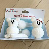 Mickey & Minnie Mouse Tokyo Disney Resort  SnoSnow Hair Clip Set