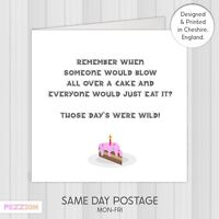 Funny 2021 Lockdown Birthday Card, For Him, For Her, Cake, Free & Fast Delivery