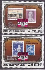 KOREA Pn. 1981 MNH** SC#2077/78 set, WIPA 1981 Stamp Exhibition, Vienna.