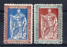 1928 REGNO EMANUELE FILIBERTO 20+30 CENTESIMI LINGUELLATI MLH D/697