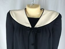 Vintage 8 Valentino Boutique Classic Black Dress 60's Costume