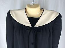Vintage 8 Valentino Boutique Classic Black Dress 60's Costume