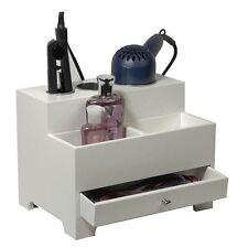 Styling Tool Organizer White Curling Iron Flat Iron Blow Dryer Makeup Hair Brush