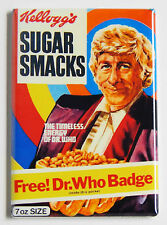 Dr. Who Cereal Box FRIDGE MAGNET (2 x 3 inches) jon pertwee sugar smacks doctor