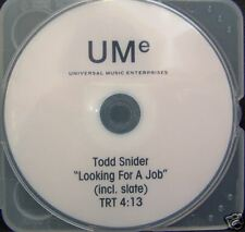 Todd Snider -  LOOKING FOR A JOB - Promo DVD Single [2006] - NM - Rare
