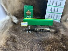 1974 Vintage Puma 943 Jagdmesser Knife With Stag Handles Factory Box & Gold Tag