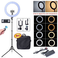 "Fotoconic 80W 19"" 48cm 2700K~5500K Bi-Color LED Dimmable Ring Light with Stand"
