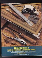 Brookstone Hard-to-Find Tools & Other Fine Things Catalog Summer 1978