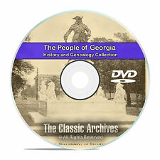 Georgia GA, People Cities and Towns, History and Genealogy -141 Books DVD CD B01