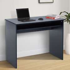 HOMCOM Writing Computer Desk Workstation PB Black Home Office Wooden Table