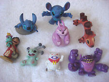 Disney Store LILO & STITCH Figurine Lot of 8 Yang Kixx Bonnie Cannonball Scrump