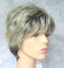 Cute Very Short Dark Brown Blonde High Heat Resistant Full Synthetic Wig - #20