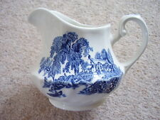 Ironstone by Swinnertons England porcelain blue and white jug,The Ferry