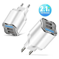 Travel 5V 2.1A Dual USB-Ports Charger Power Adapter for iPhone Sam-sung Convient