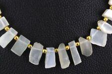 Natural White Moonstone Rough Gemstone Beads 6x13-10x20 MM Making jewelry