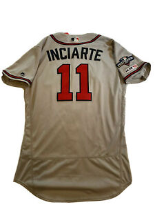 MLB Authenticated - Ender Inciarte Game-Used Braves Jersey With Postseason Patch