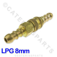 LPG PROPANE QUICK RELEASE COUPLING FOR CONNECTING 8MM BORE ORANGE GAS HOSE