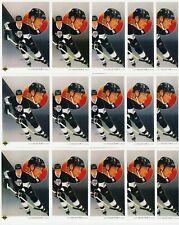 WAYNE GRETZKY 27 CARD LOT 1990-91 UPPER DECK # 307 KINGS CHECKLIST FRENCH & US