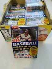 One 1986 Fleer Baseball Cello Pack , Unopened